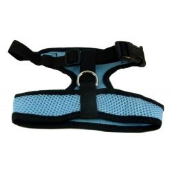 Mesh Comfort Harness Large Light Blue by MoggyorMutt