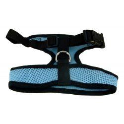 Mesh Comfort Harness Medium Light Blue by MoggyorMutt
