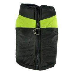 Quilted Waterproof High Viz Small Green Puffa Jacket by MoggyorMutt