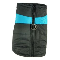 Quilted Waterproof High Viz Medium Blue Puffa Jacket by MoggyorMutt