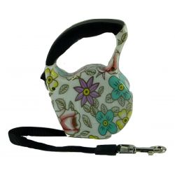 Retractable Automatic Dog Lead  Floral 3m by MoggyorMutt