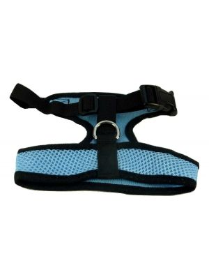Mesh Comfort Harness Medium Light Blue by MoggyorMutt