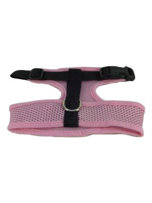 Mesh Comfort Harness Medium Light Pink by MoggyorMutt