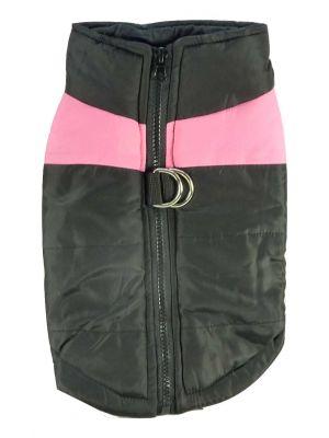 Quilted Waterproof High Viz Medium Pink Puffa Jacket by MoggyorMutt