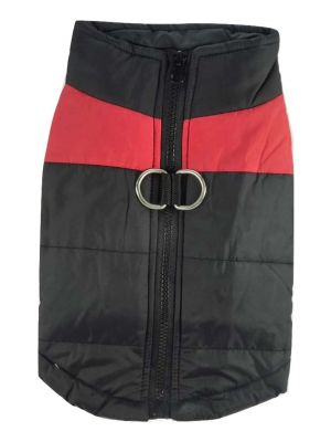 Quilted Waterproof High Viz Large Red Puffa Jacket by MoggyorMutt