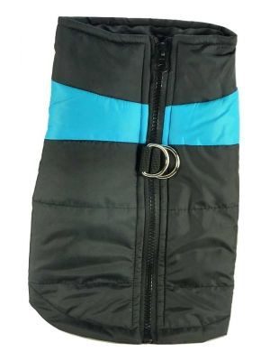 Quilted Waterproof High Viz Large Blue Puffa Jacket by MoggyorMutt