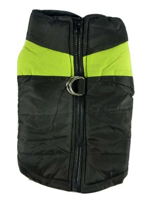 Quilted Waterproof High Viz X Large Green Puffa Jacket by MoggyorMutt