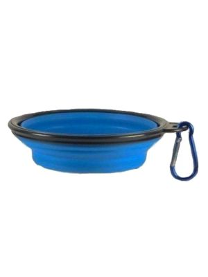Collapsible Travel Bowl Blue for Dogs or Cats by MoggyorMutt