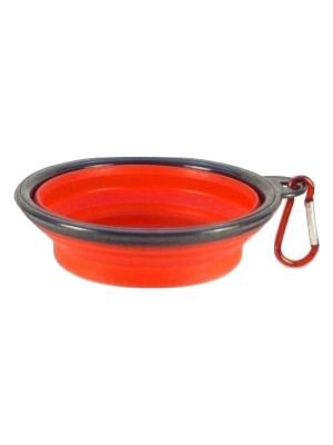 Collapsible Travel Bowl Orange for Dogs or Cats by MoggyorMutt