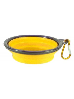 Collapsible Travel Bowl Yellow for Dogs or Cats by MoggyorMutt