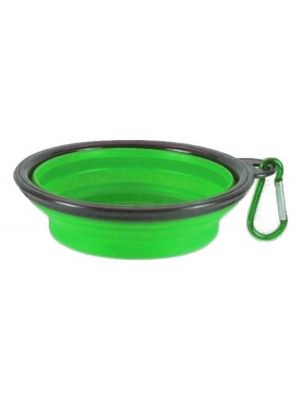 Collapsible Travel Bowl Green for Dogs or Cats by MoggyorMutt