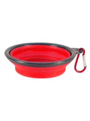 Collapsible Travel Bowl Red for Dogs or Cats by MoggyorMutt