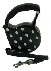 Retractable Automatic Dog Lead  Polka Dot 3m by MoggyorMutt